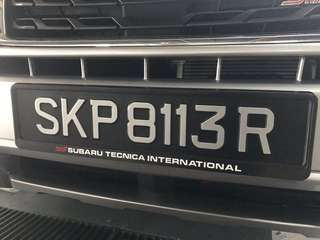 Custom your carplate casing with us!!
