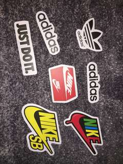 Adidas, Nike Skateboard Stickers
