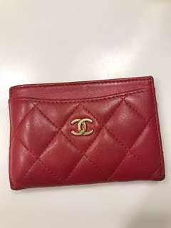 Chanel Card Wallet - RED