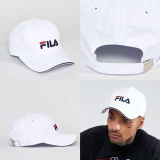"INSTOCKS White ""FILA"" Baseball Cap"