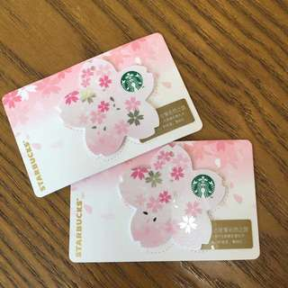 Preorder Starbucks China sakura card