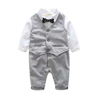 Little Gentleman Two Piece Baby Romper (Ready stock)