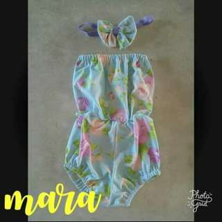Romper with turban