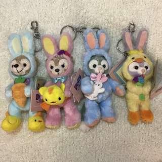 ⭐️現貨!!⭐️ 🐰香港迪士尼復活節版Duffy & Friends匙扣掛飾一套4隻