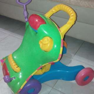 FREE POST Playskool 2in1 Push Walker & Ride On Car