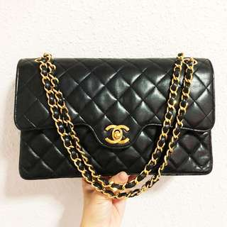 RESERVED Authentic Chanel Lambskin True 1985 Vintage Collector's Item Flap Bag