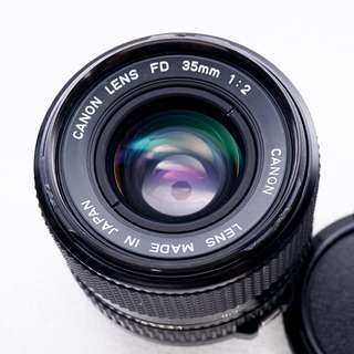 Canon 35mm f2 FDn manual focus lens