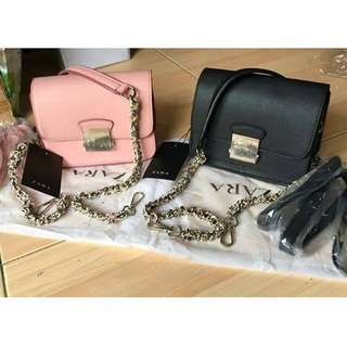 NEW ZARA CONTRASTING BAG ORI