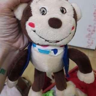 Preloved Boneka Monyet Coklat Kecil