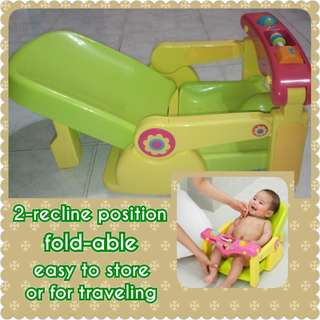 FREE POST Tomy 2-position Baby Bath Seat