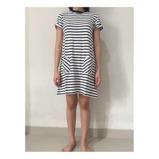 Dress Garis-garis Cottonink