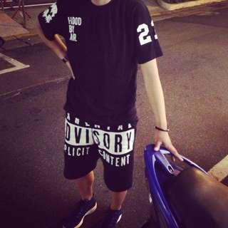 早期商品 MJ FRESSH GANG 黑色LOGO短褲 MJ116 頑童 尺寸:L