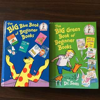 2 x Dr Seuss Big Books. The Big Green Book & The Big Blue Book