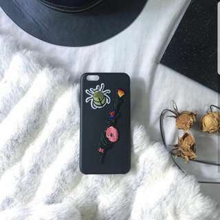 iPhone 6+ Leather Case w/ Patches