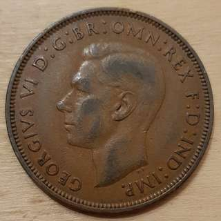 1948 Great Britain King George VI Penny Coin