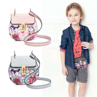 BMT361 - Girl Stylish Print Oval Sling Pouch