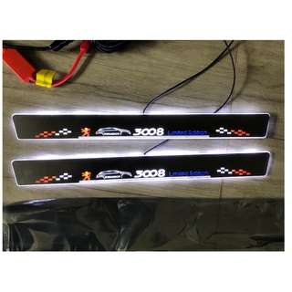 Peugeot 3008 Animated LED Door Scuff Plates