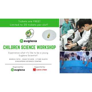 FREE Family event: Children Science Workshop (LIMITED TICKETS)