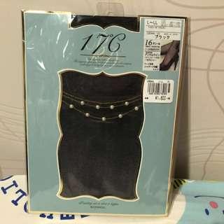日本牌子17C黑色絲襪 - 腳眼有珠仔