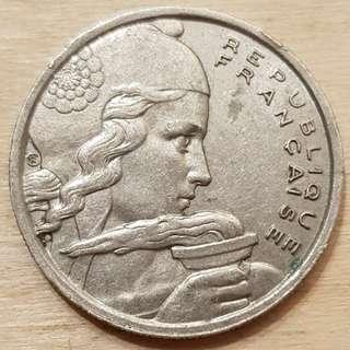 1955 France 100 Francs Coin