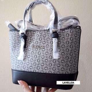 AUTHENTIC GUESS women crossbody tote Handbag