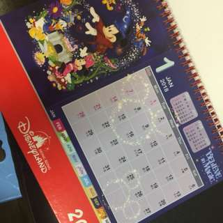 Disneyland 2018月曆(郵費自付)
