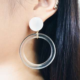 *instocks* Frances Hoop Earrings (Stone Collection)