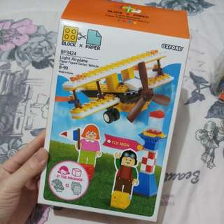 Lego oxford light airplane made in korea