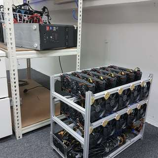 12 x 1080 gigabytes mining rig. Fully plug and play.