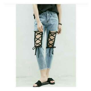 Bianca laceup jeans