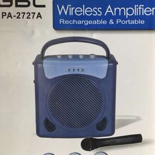 GBL PA2727 Wireless Amplifier Rechargeable Portable with microphone