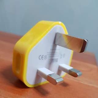 Yellow USB Wall Plug