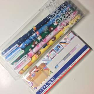 Stationery pen and memo