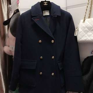 Zara navy coat 大褸