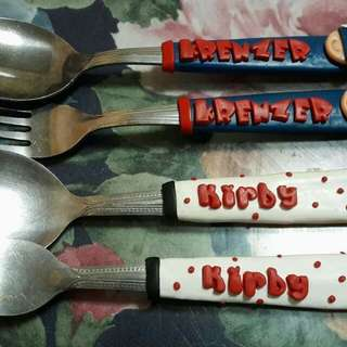 Personalize spoon & fork polymer clay