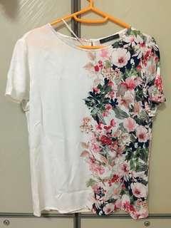 Esprit Floral top- off-white woven blouse