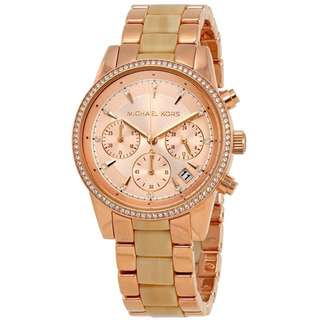 Original Michael Kors Ritz Rose Gold-Tone and Acetate Watch