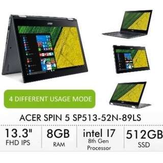 Spin 5 SP513-52N-89LS Convertible Laptop.
