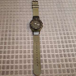 Casio watch army green