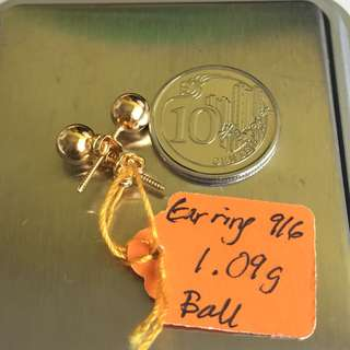 Ear ring Gold 916