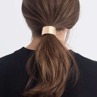 📮Gold Metal Ponytail Hair Tie
