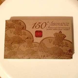 加拿大150周年紀念郵票金幣套裝 150th Anniversary of the First Postage Stamp in Canada