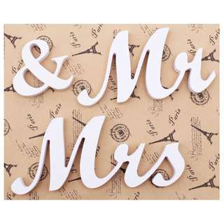 INSTOCK Mr & Mrs SET/ Wedding/ Bride and Groom/ Love Wooden Letters Preorder Party/ Home/ Wedding decoration/ Gifts  FREE POSTAGE