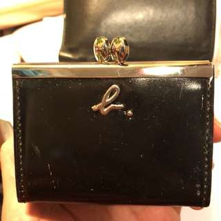 Agnes b leather coins bag