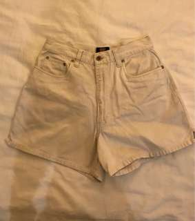 Off-white high waisted shorts