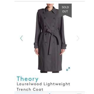 NEW Theory Laurelwood Trench Coat (Small)