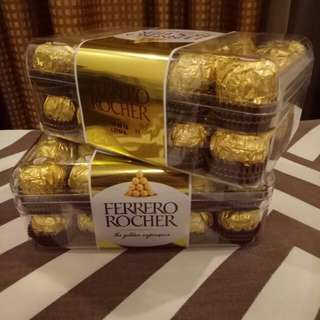 ON HAND FERRERO CHOCOLATE 30'S