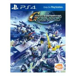 PS4 SD Gundam G Generation Genesis (R3)