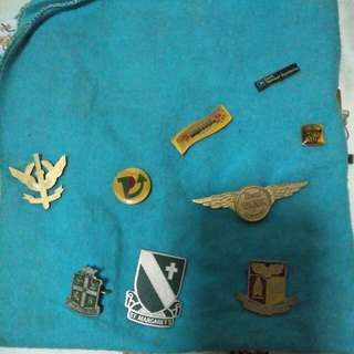 Old badges of Singapore