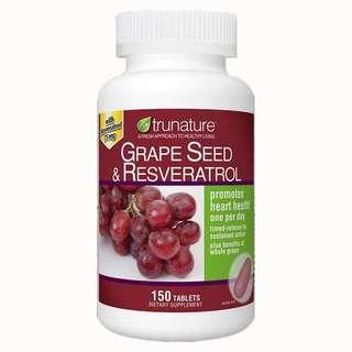 美國Trunature Grapeseed 葡萄籽精華,150粒藥片